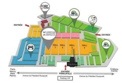 Plan accès carrefour